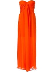 Msgm Gathered Strapless Gown