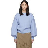 J.W.Anderson Jw Anderson Blue Balloon Sleeve Sweater