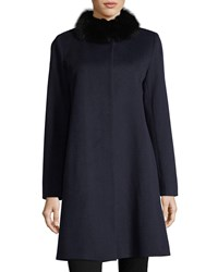 Fleurette 36 Stand Collar Coat Wfox Tr Midnight Fox