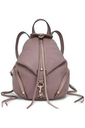 Rebecca Minkoff Woman Julian Convertible Textured Leather Backpack Taupe
