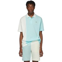 Lacoste Blue And White Golf Le Fleur Edition Colorblocked Polo