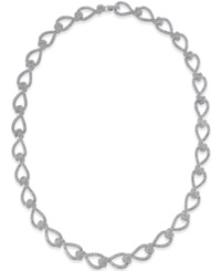 Eliot Danori Silver Tone Crystal Pave Knot All Around Necklace