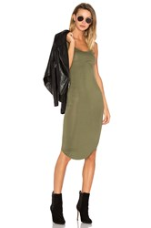 Blq Basiq Racer Tank Dress Green