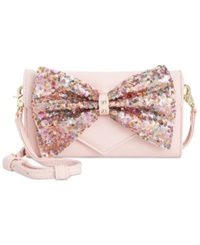 Betsey Johnson Macy's Exclusive Bow Sequin Wallet On A String Blush