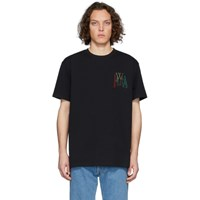 J.W.Anderson Jw Anderson Black Logo Embroidery T Shirt