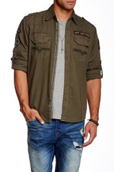Affliction Live Free Ride Free Long Sleeve Woven Shirt Green