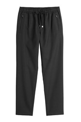 Dolce And Gabbana Wool Cotton Jogging Pants Black