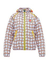 Marni Fleece Patch Checked Quilted Jacket Multi
