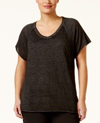 Calvin Klein Performance Plus Size Burnout T Shirt