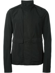 Rick Owens Funnel Neck Jacket Black