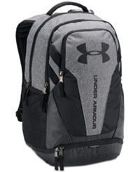 Under Armour Hustle Storm Backpack Black Heather Grey