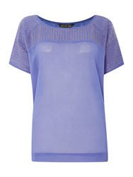 Biba Beaded And Pintuck Volume Blouse Lavender