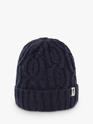 The North Face Minna Cable Knit Beanie One Size Montague Blue