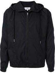 Ck Calvin Klein Zip Up Hooded Jacket Blue