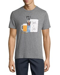 Penguin Drink And Draw Graphic Tee Gray