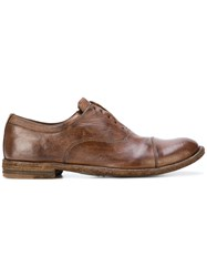 Officine Creative Lexikon Oxford Shoes Buffalo Leather Leather Brown