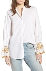 Scotch And Soda Oversize Button Front Shirt Color 06 White