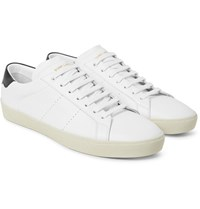 Saint Laurent Sl 06 Court Classic Leather Sneakers White