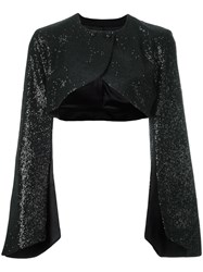 Pascal Millet Sequin Embellished Bolero Jacket Black