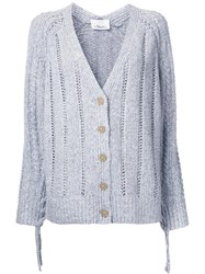 3.1 Phillip Lim Pointelle Cardigan Grey