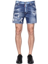Dsquared Destroyed Washed Denim Shorts