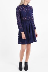 Paul Joe Sister Women S Daisy Lace Print Shirt Dress Boutique1 Navy