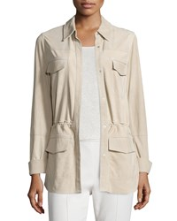 Vince Nubuck Safari Shirt Jacket Women's Marzipan