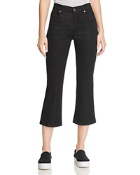 Eileen Fisher Cropped Bootcut Jeans In Black
