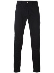 Tom Rebl Slim Fit Chinos Cotton Spandex Elastane Black