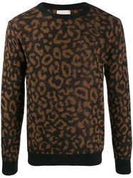 Laneus Animal Knit Jumper Black