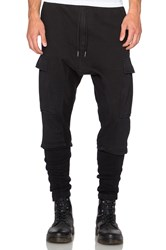 Nlst Ribbed Cargo Pants Black