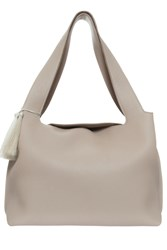 The Row Duplex Leather Bag Beige