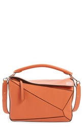 Loewe 'Small Puzzle' Leather Bag Coral