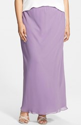 Plus Size Women's Alex Evenings Chiffon Maxi Skirt