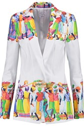 Stella Jean Printed Cotton Jacket White