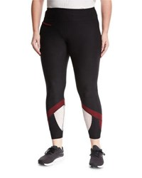 X By Gottex Mesh Inset Performance Leggings Black