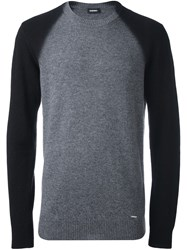 Diesel 'K Fucatio' Sweater Grey