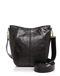 Halston Heritage Ali Medium Leather Bucket Bag Black Gold