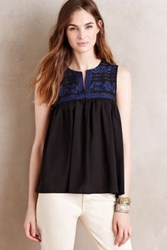 Anthropologie Sisa Babydoll Tank Black