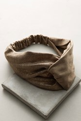 Anthropologie Knotted Tweed Headband Neutral