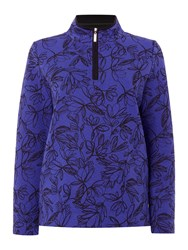 Tigi Jacquard Sweater Blue