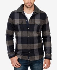 Lucky Brand Men's Buffalo Plaid Jacket Navy Grey Multi