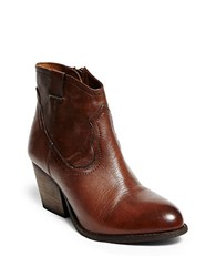 Steve Madden Sogood Leather Boots Cognac
