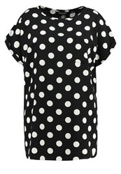 Dorothy Perkins Curve Blouse Black White