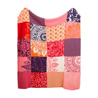 Desigual Romantic Patch Knitted Blanket