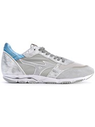 Mizuno Wave Sirus Sneakers Men Cotton Leather Polyester Rubber 45 Grey