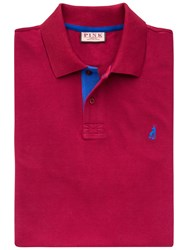 Thomas Pink Brandon Plain Polo Shirt Deep Red Blue