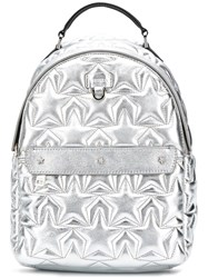 Furla Favola Quilted Backpack Silver