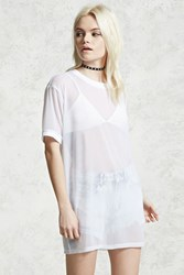 Forever 21 Contemporary Mesh Knit Top