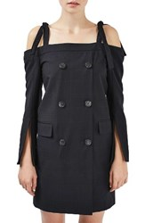 Topshop Women's Boutique Off The Shoulder Blazer Dress